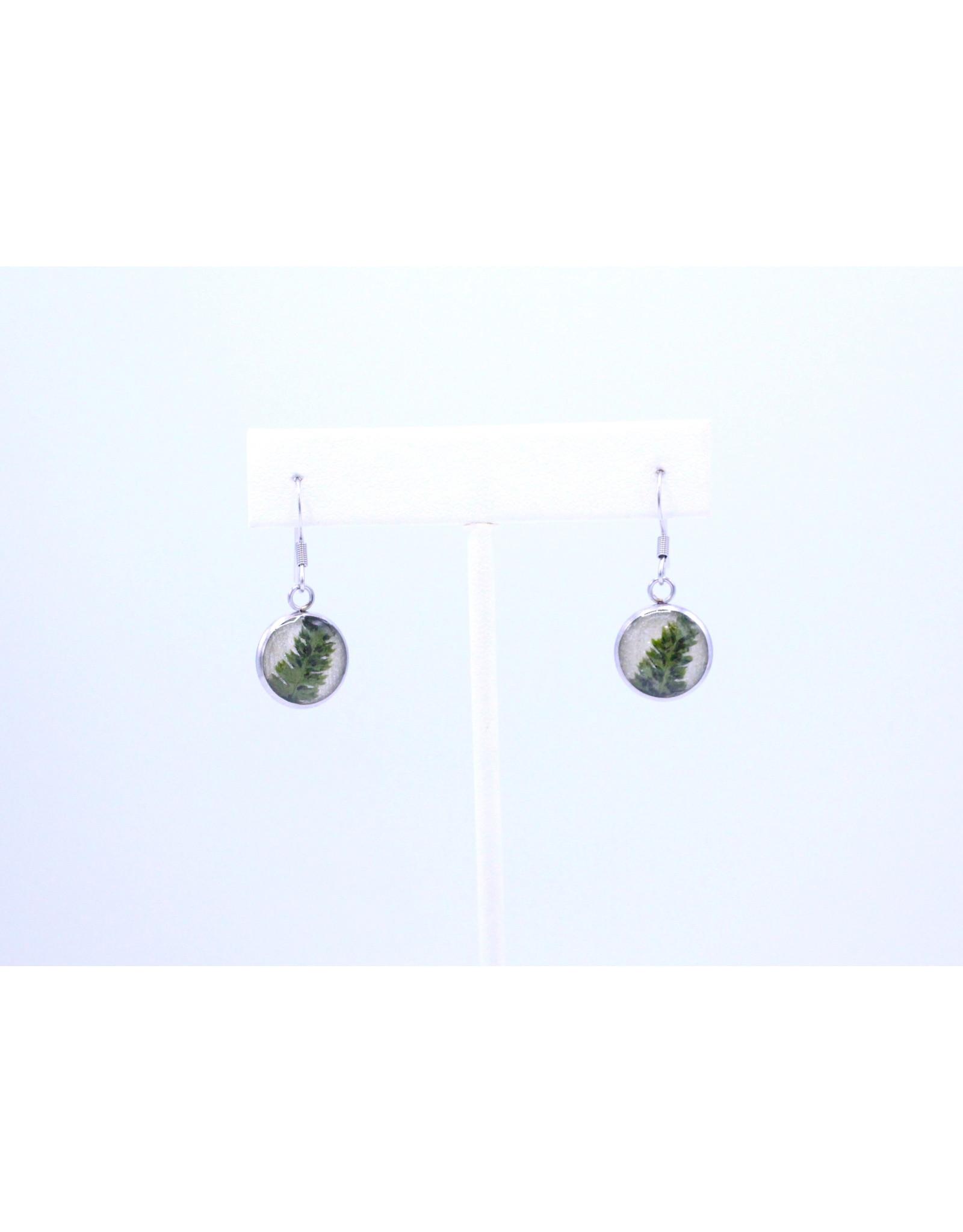 12mm Drop Fern Earrings - J12DFE1