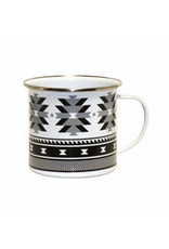 Enamel Mug - Weaving Patterns by Leila Stogan