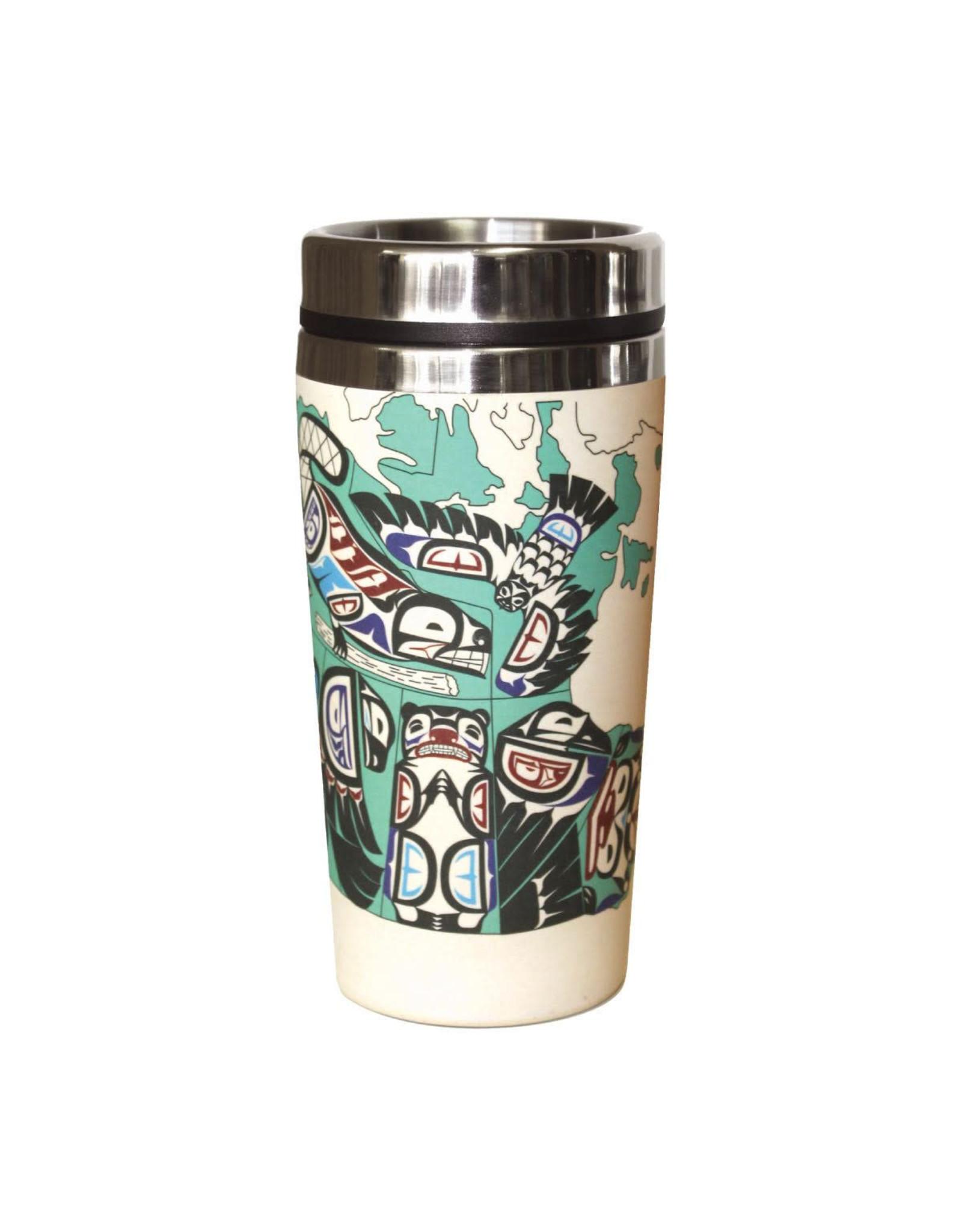 Bamboo Travel Mug - Indigenous Canada by Mervin Windsor