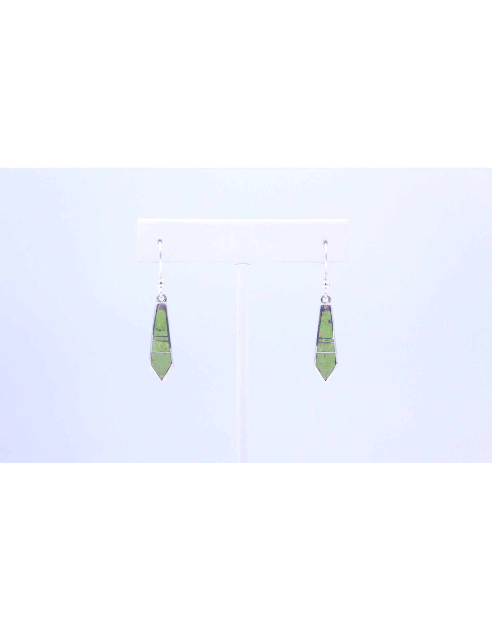 Gaspeite Earrings - NEG1