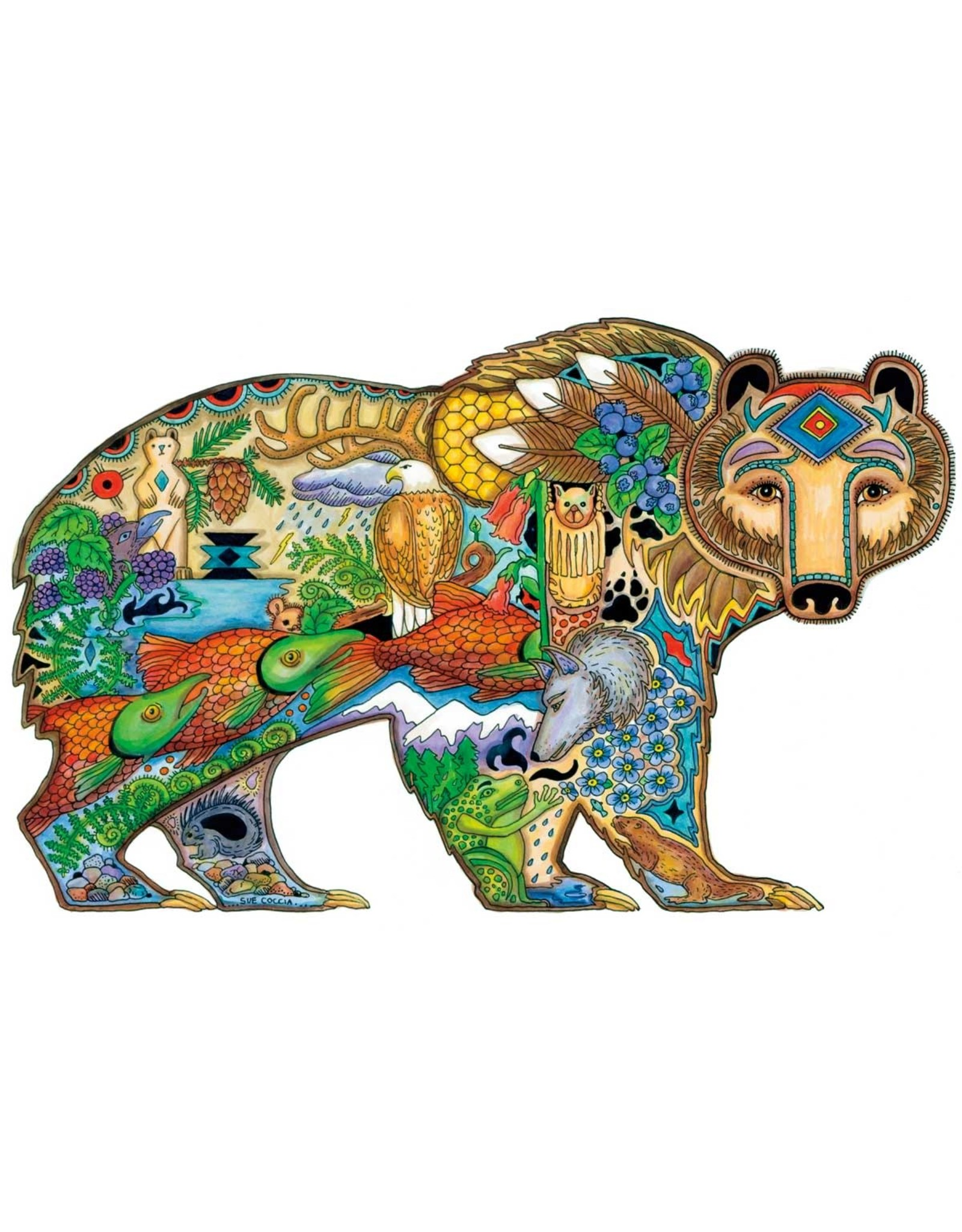 Grizzly Bear by Sue Coccia Canvas