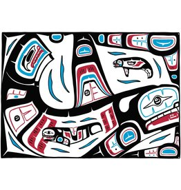 Mother Killer Whale Seal by Stephanie Kewistep Canvas