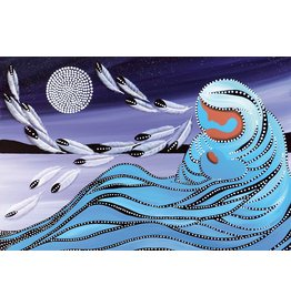 Mother & Moon by Betty Albert Canvas
