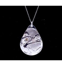 Wolf Teardrop Necklace by Corrine Hunt