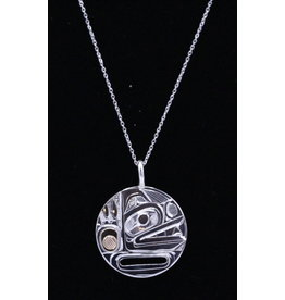 Bear Round Necklace by Corrine Hunt