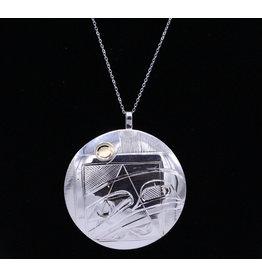 Raven Round Necklace by Corrine Hunt