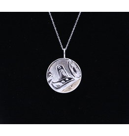 Orca Round Necklace by Corrine Hunt
