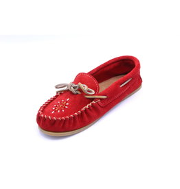 Ladies Red Apple Moccasin with Sole