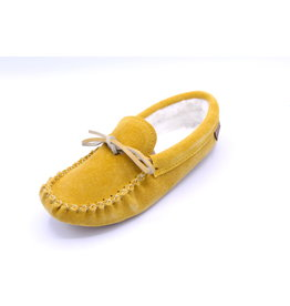 Ladies Lined Moccasin Indian Tan