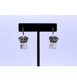 Copper Wolf Earrings by Hollie Bear