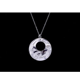 Round Eagle Necklace by Hollie Bear