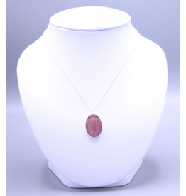 B.C Pacific Dogwood 25x19mm Silver Necklace