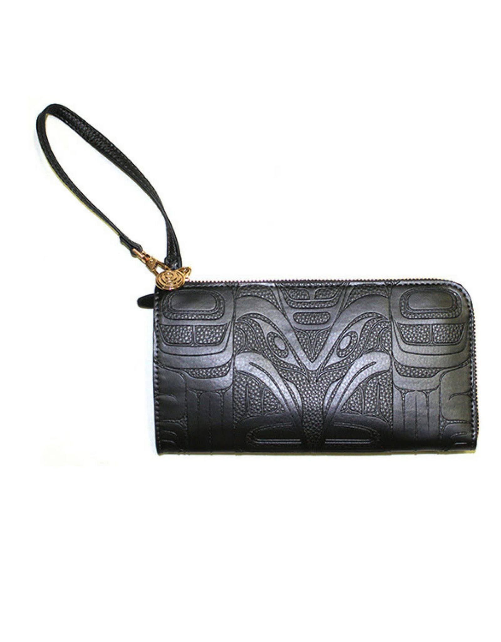 Embossed Fashion Clutch by Francis Horne Sr. - Raven (EFCB2)