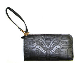 Embossed Fashion Clutch by Francis Horne Sr. - Raven
