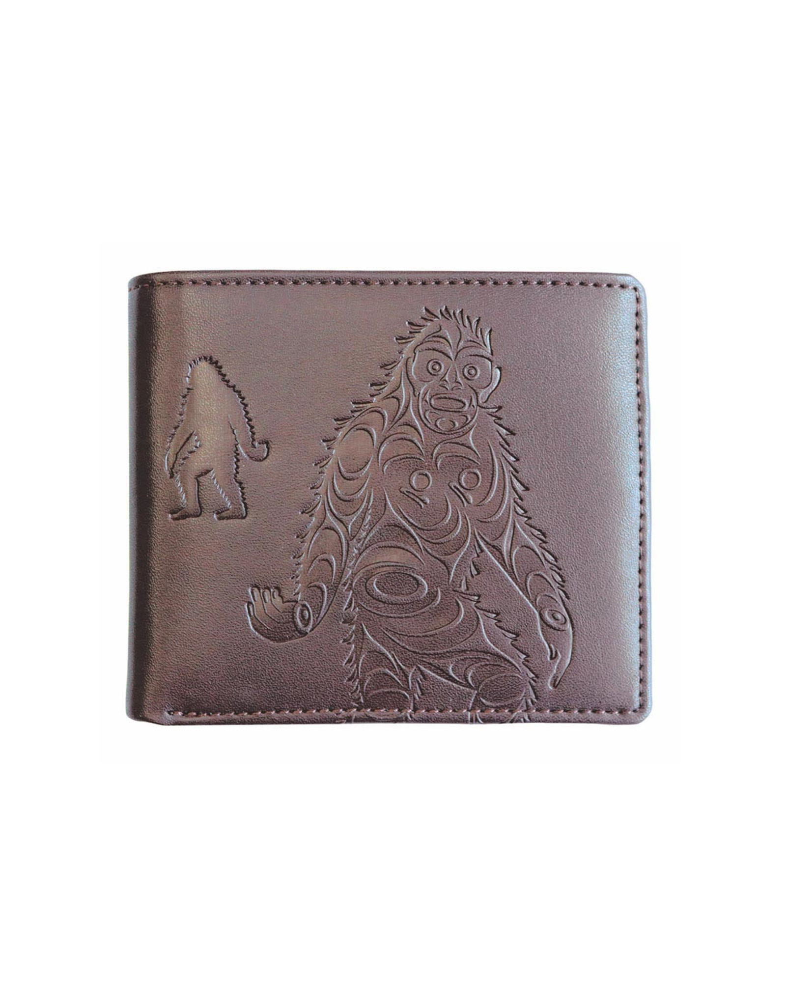 Embossed Wallet  by Francis Horne Sr. - Sasquatch (EFW5)