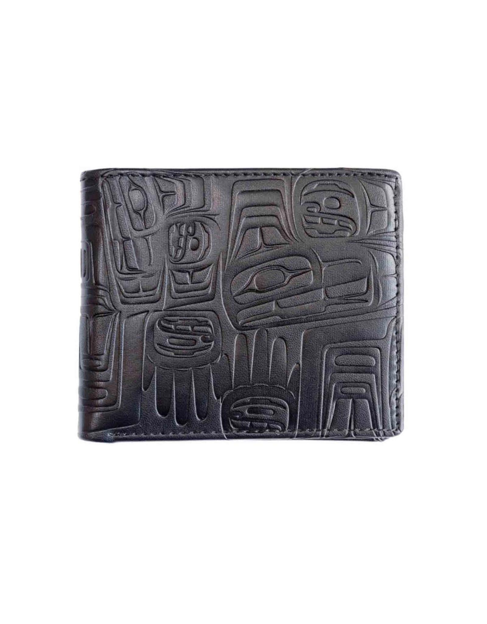 Embossed Wallet Eagle by Ben Houstie Black - Eagle Crest - EFW4