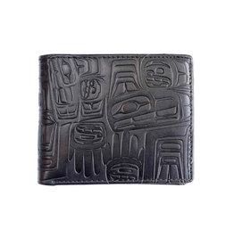 Embossed Wallet Eagle by Ben Houstie Black - Eagle Crest