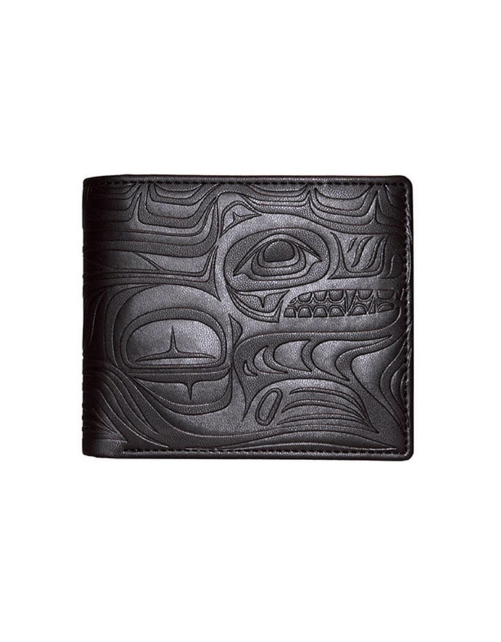 Embossed Wallet by Paul Windsor Black - Spirit Wolf - EFW2