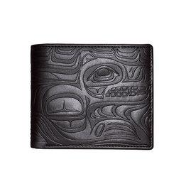 Embossed Wallet by Paul Windsor Black - Spirit Wolf