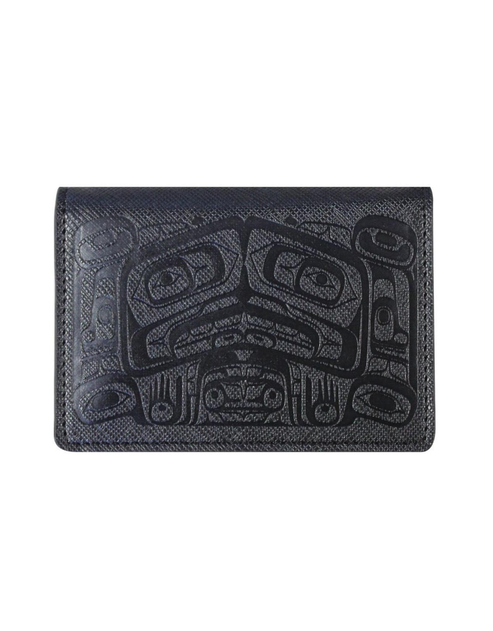 (Black) Raven Box by Allan Weir Card Wallet- ID21