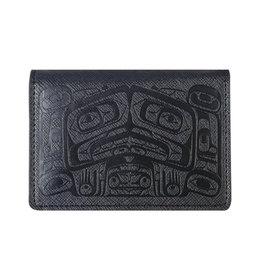 Raven Box by Allan Weir Card Wallet- Black