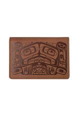 (Brown) Raven Box by Allan Weir Card Wallet- ID22