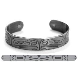 Haida Cuffs Brushed Silver Eagle by Gordon White