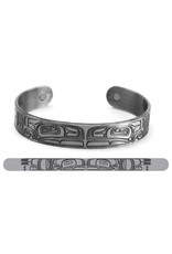 Brushed Silver Bracelet - Thunderbird by Morgan Asoyuf (ABR2)