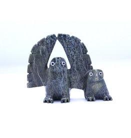 Owl & Chick by Adamie Qaumagiaq