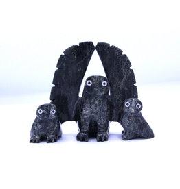 Owl & Chicks by Adamie Qaumagiaq