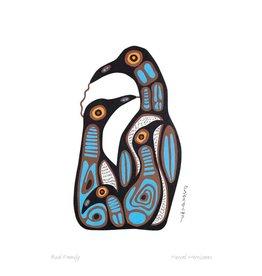 Bird Family par Norval Morrisseau Carte
