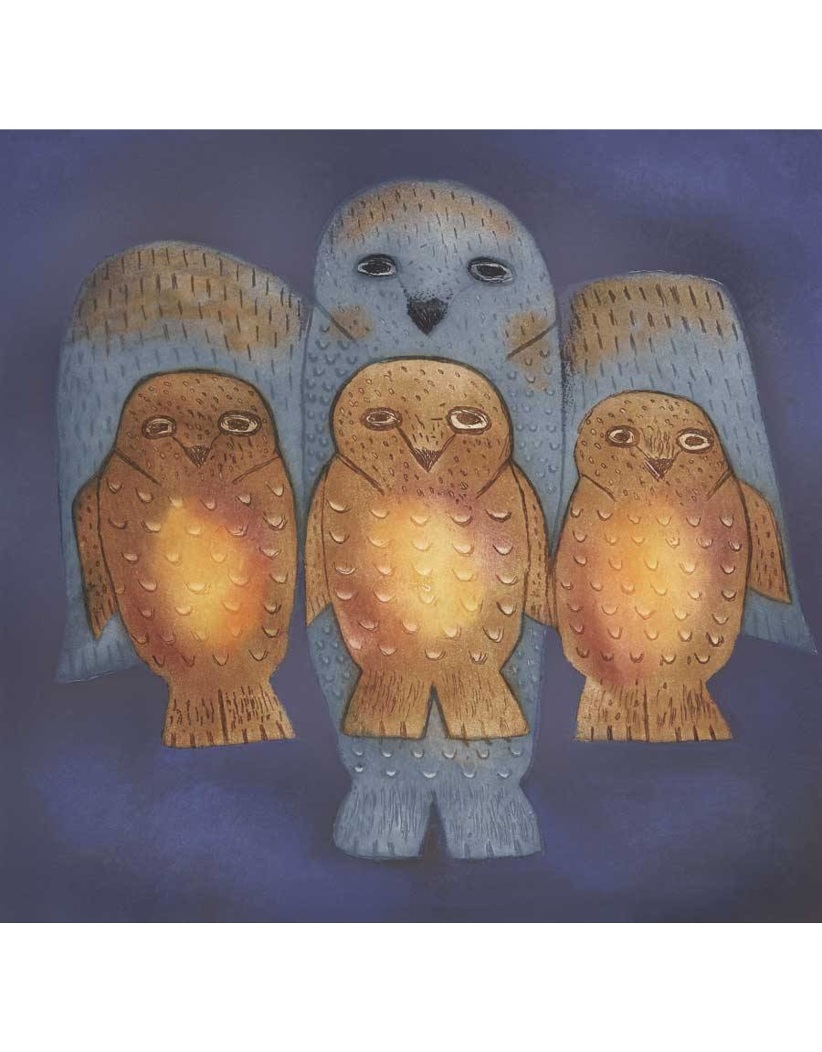 Family of Owls by Nikotai Mills Card