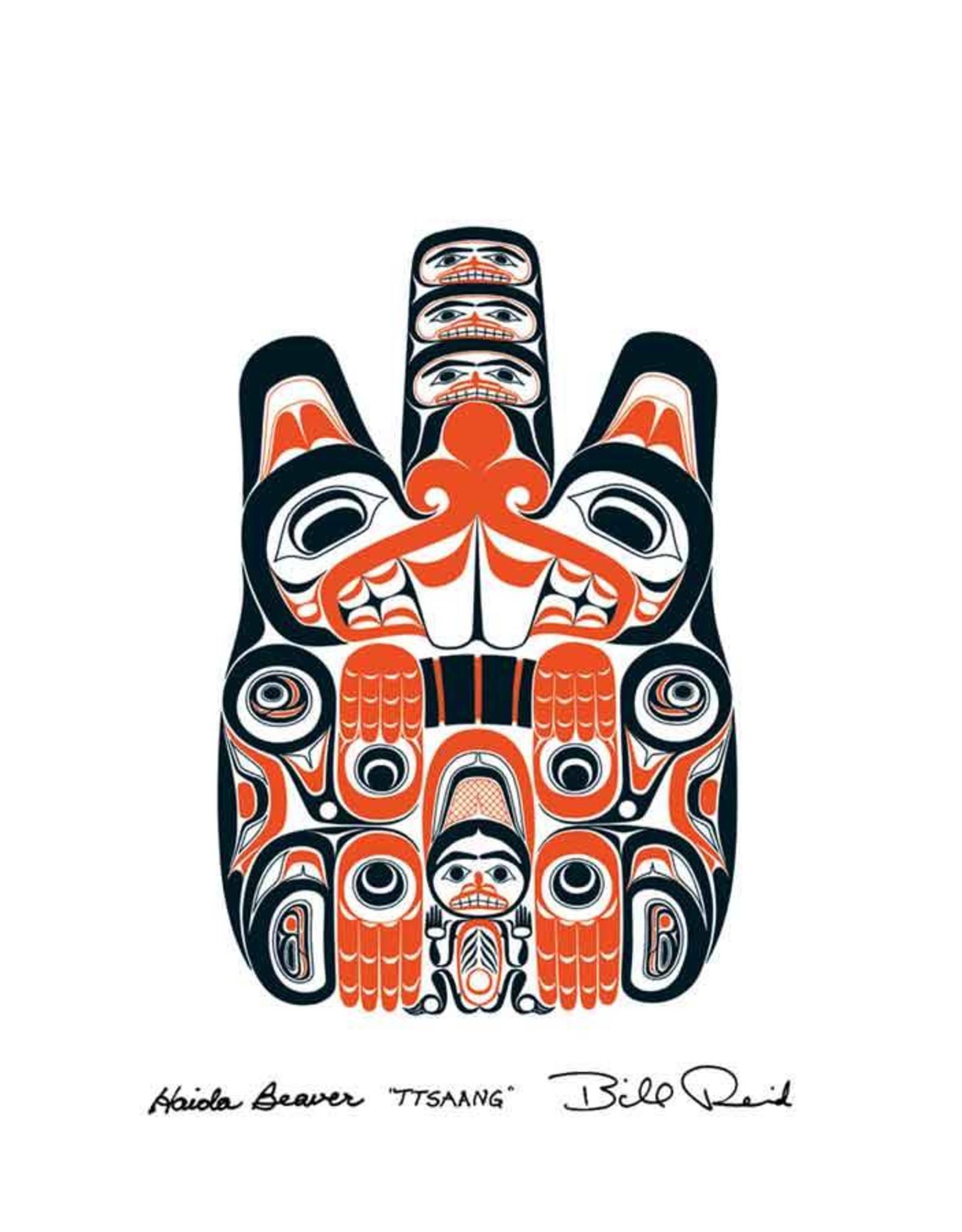 Haida Beaver TTSAANG by Bill Reid Card 20026