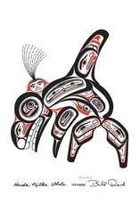 Haida Killer Whale SKAANA par Bill Reid Carte