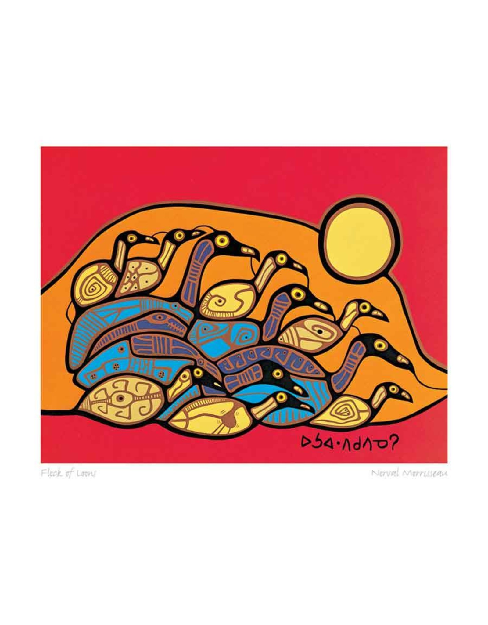 Flock of Loons by Norval Morrisseau Card
