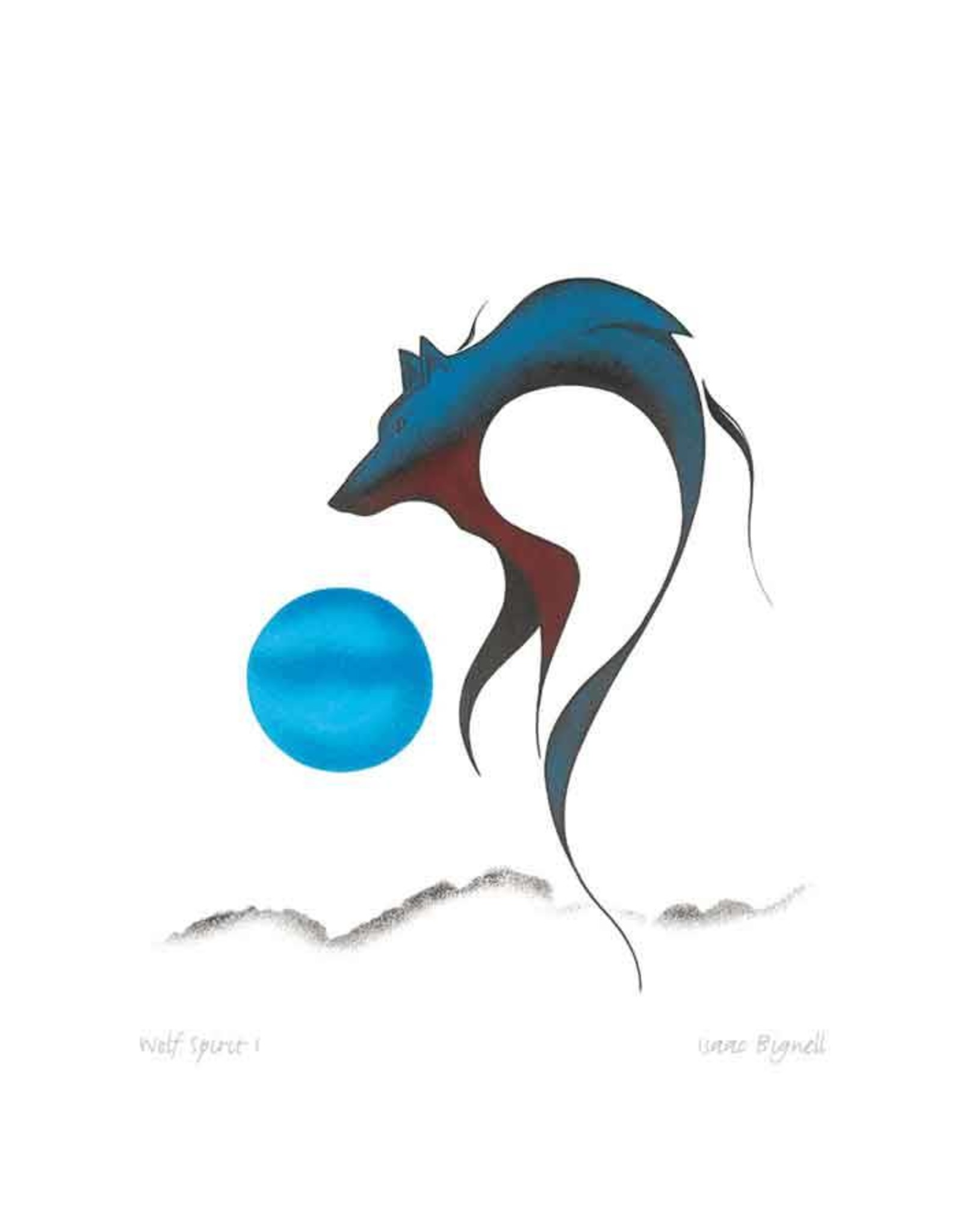 Wolf Spirit I by Isaac Bignell Card