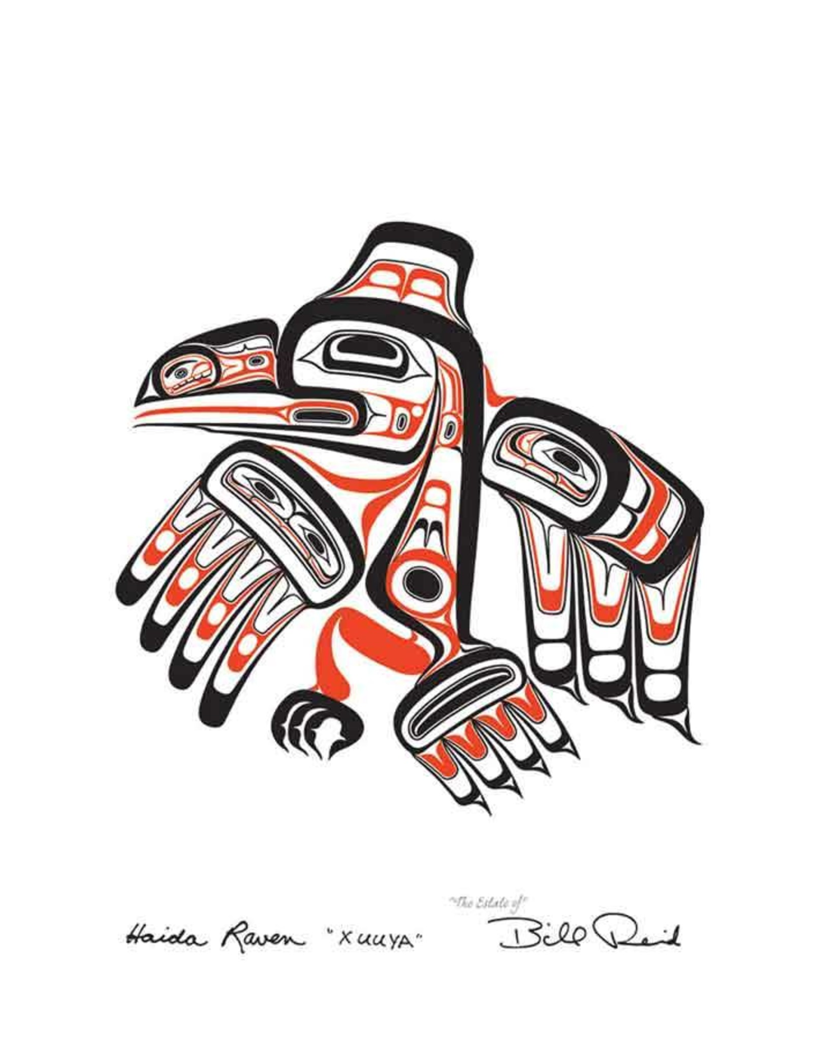 Haida Raven XUUYA by Bill Reid Card 20025