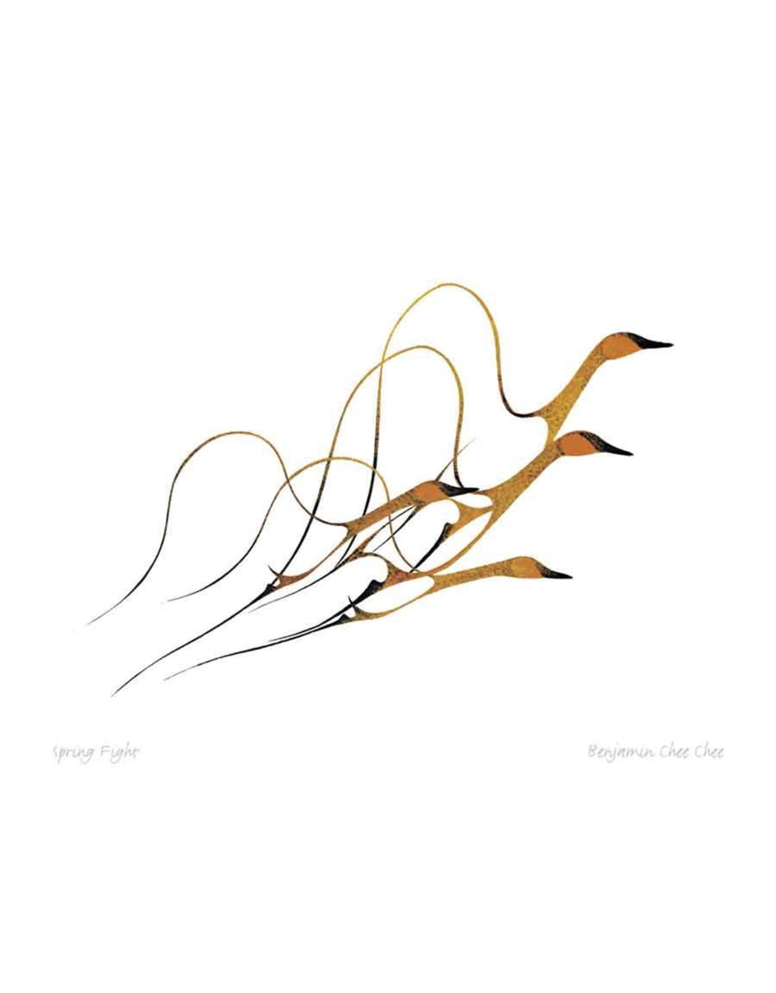 Spring Flight by Benjamin Chee Chee Card