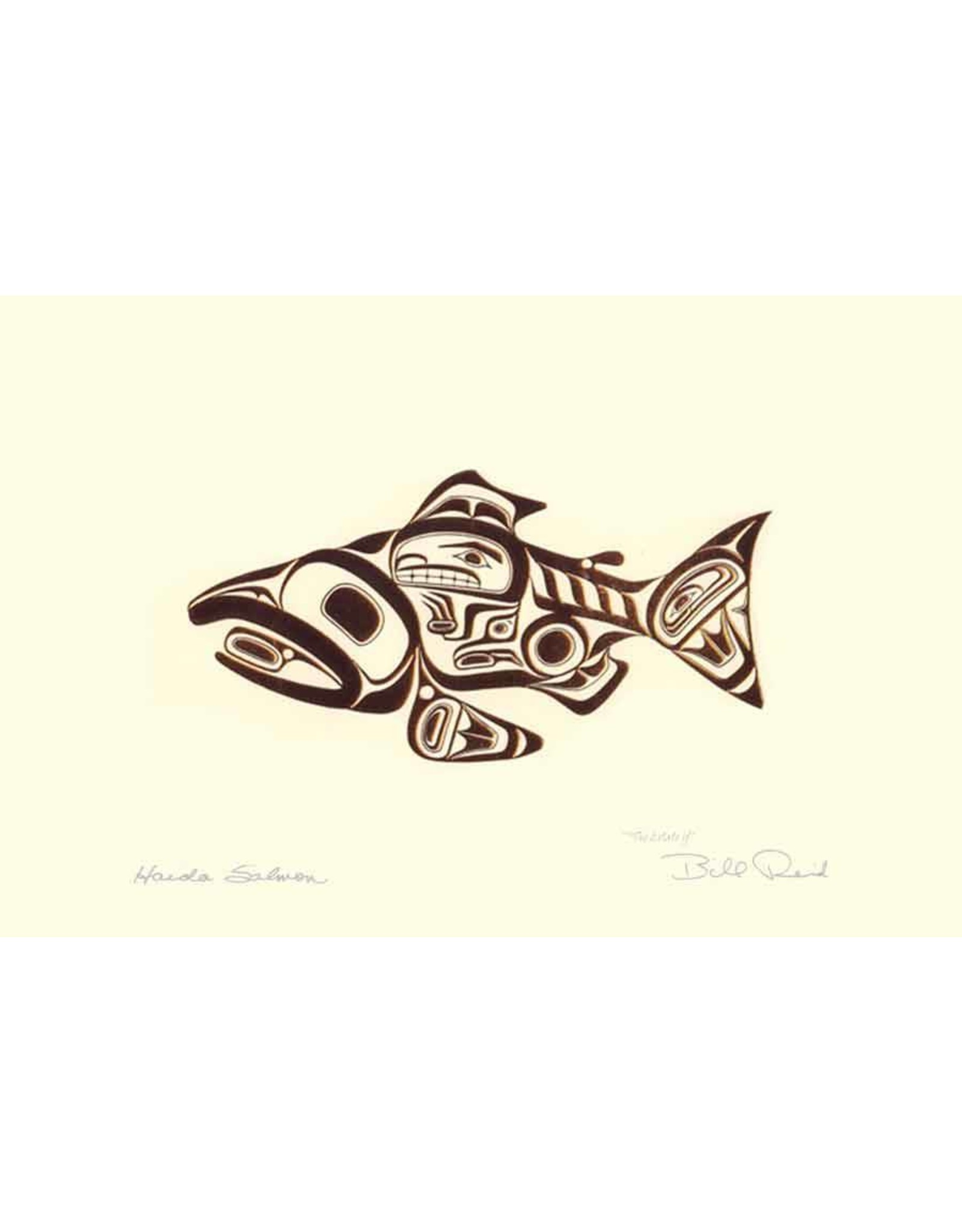 Haida Salmon - SKAAGI by Bill Reid Card 7440