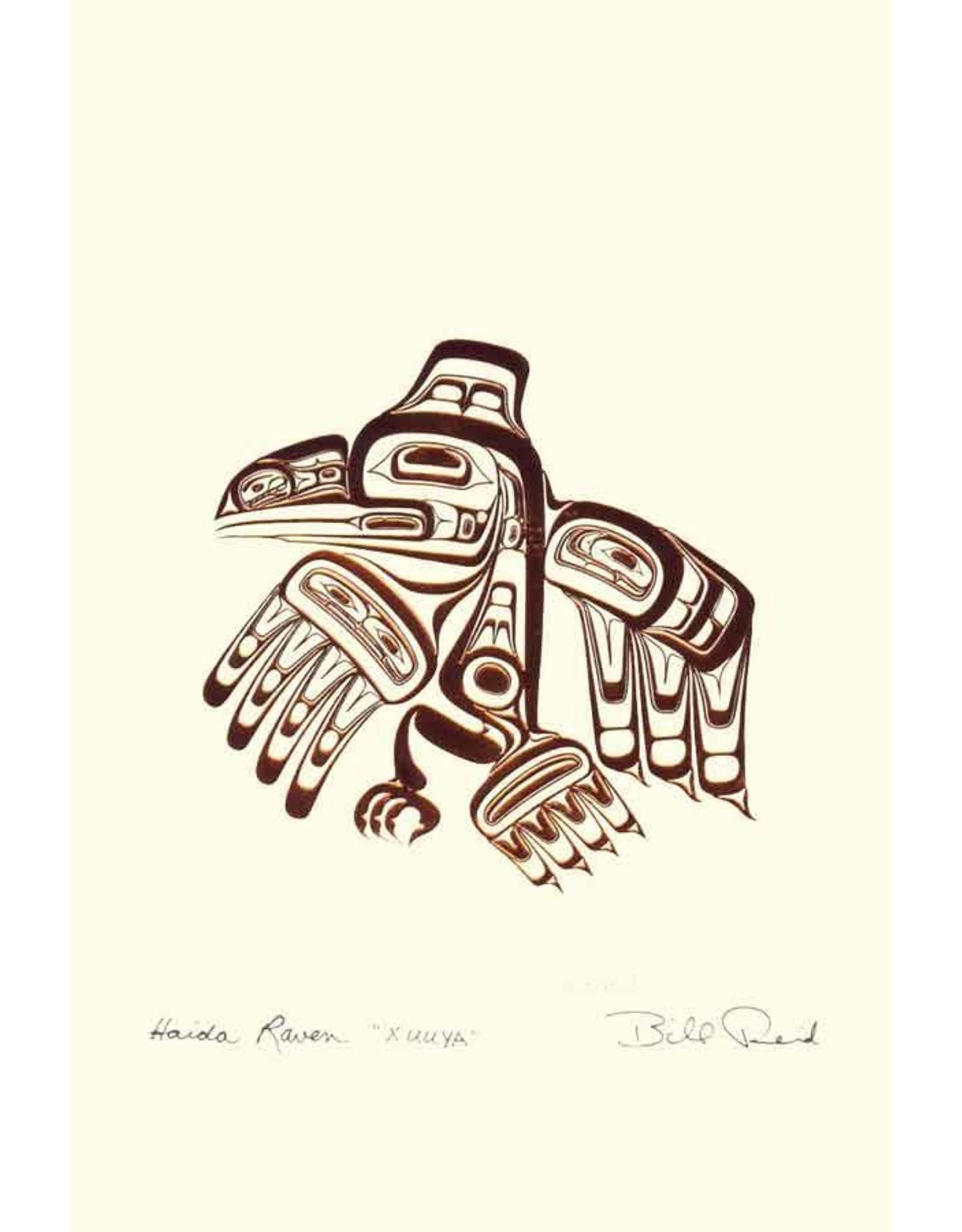 Haida Raven - XUUYA by Bill Reid Card 7438