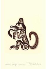 Haida Wolf - Ghuuts by Bill Reid Matted