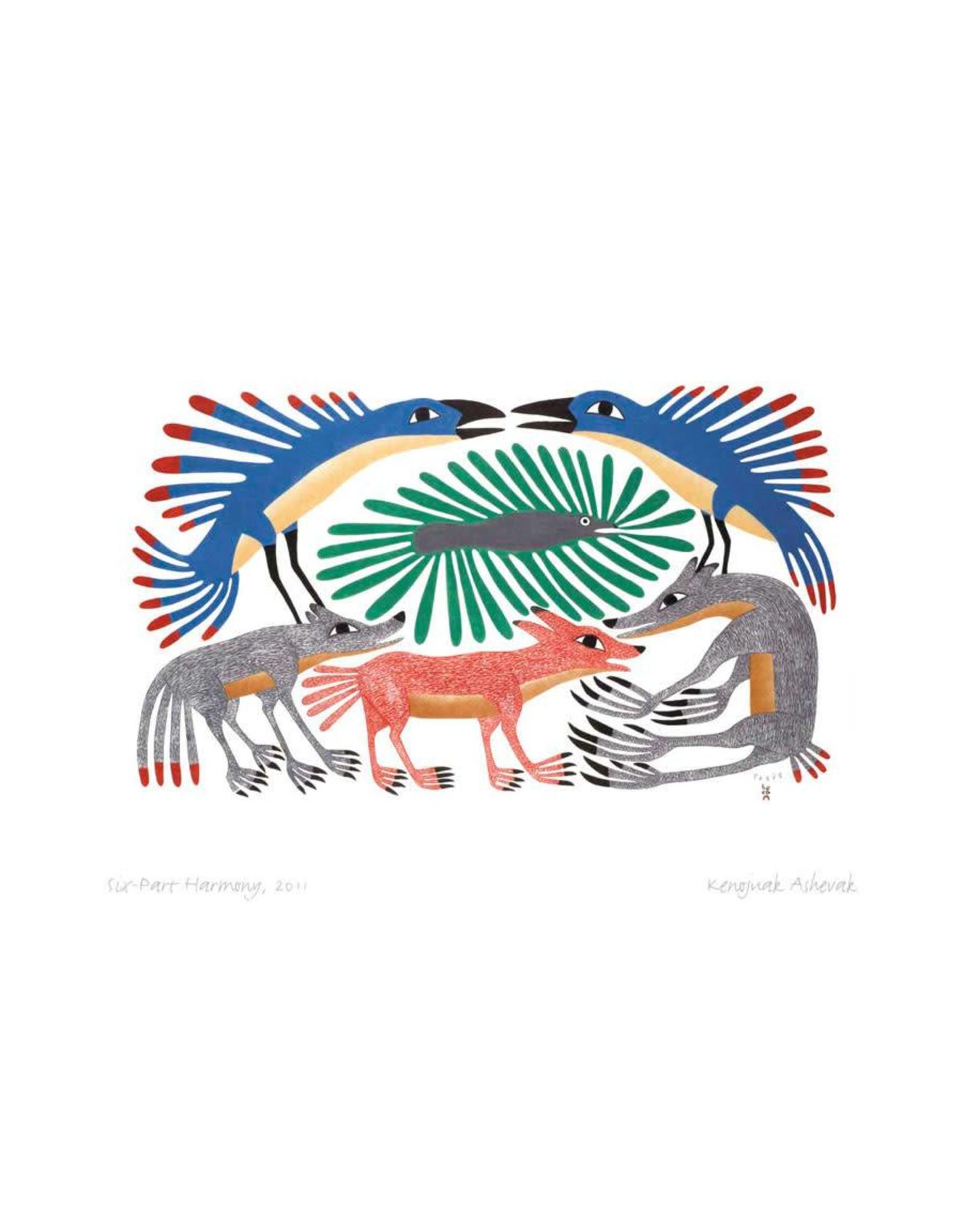 Six-Part Harmony, 2011 par Kenojuak Ashevak Montée sur Passe-Partout