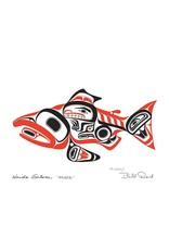 Haida Salmon - SKAAGI by Bill Reid Matted 20028