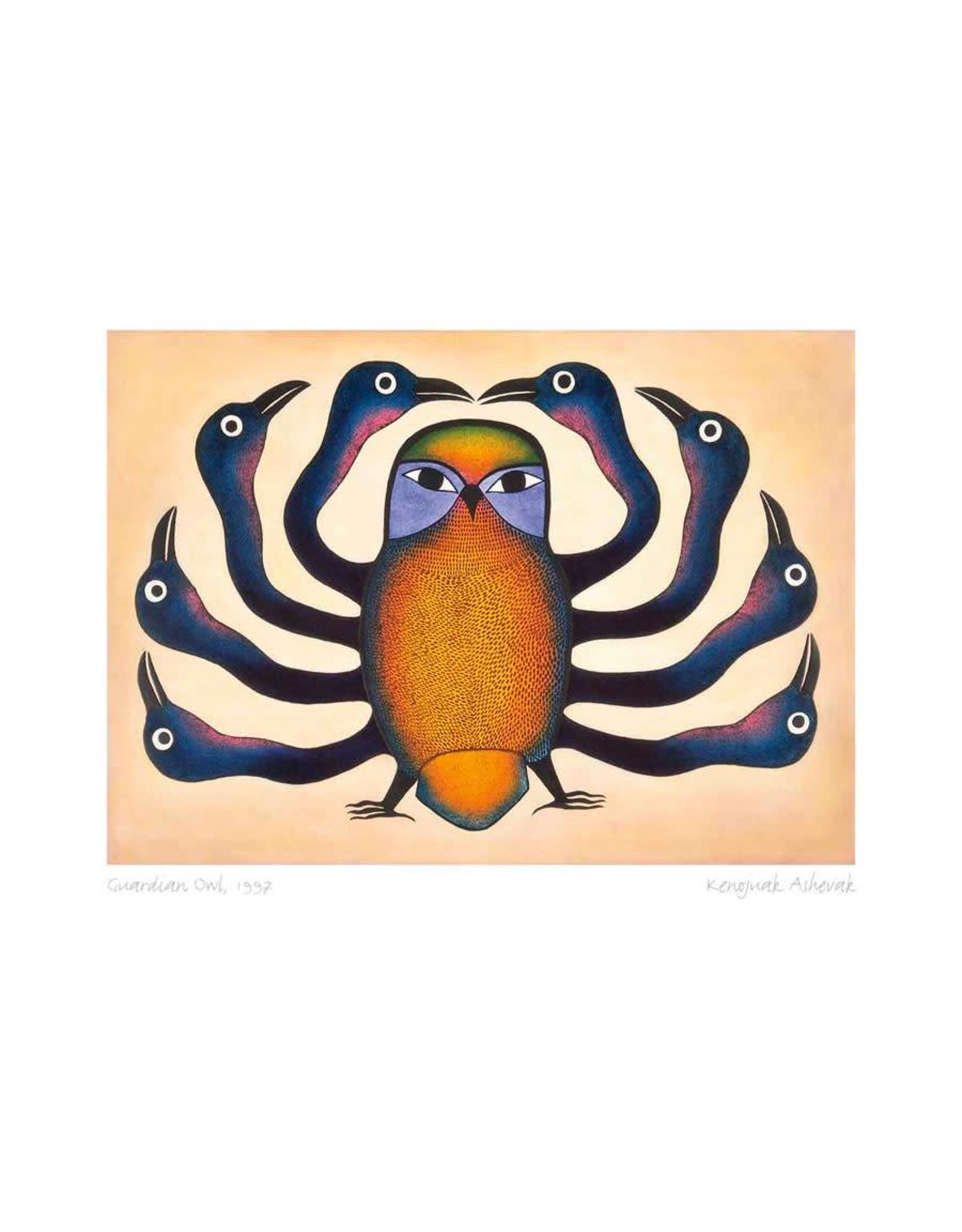 Guardian Owl, 1997 by Kenojuak Ashevak Matted