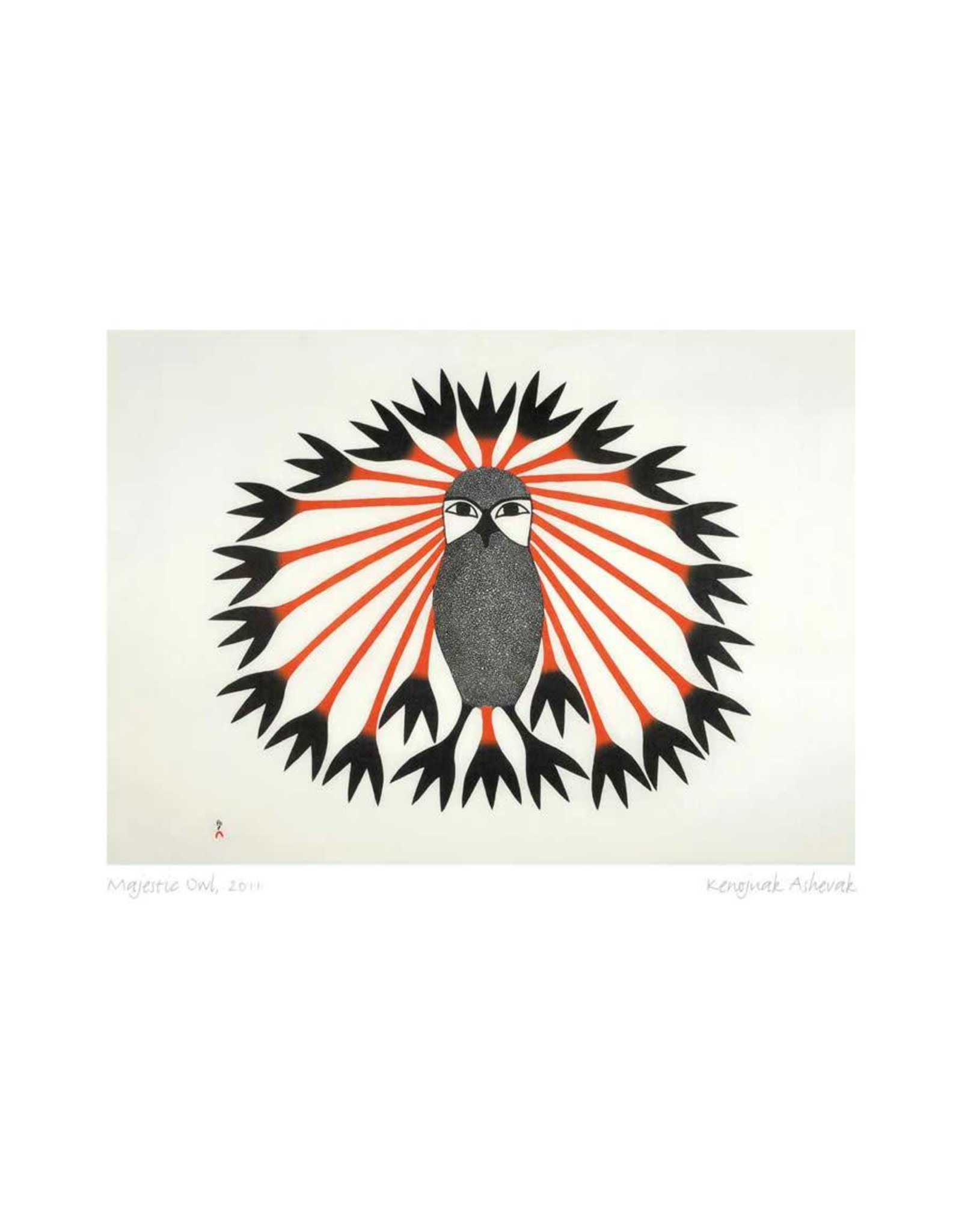 Majestic Owl, 2011 by Kenojuak Ashevak Matted