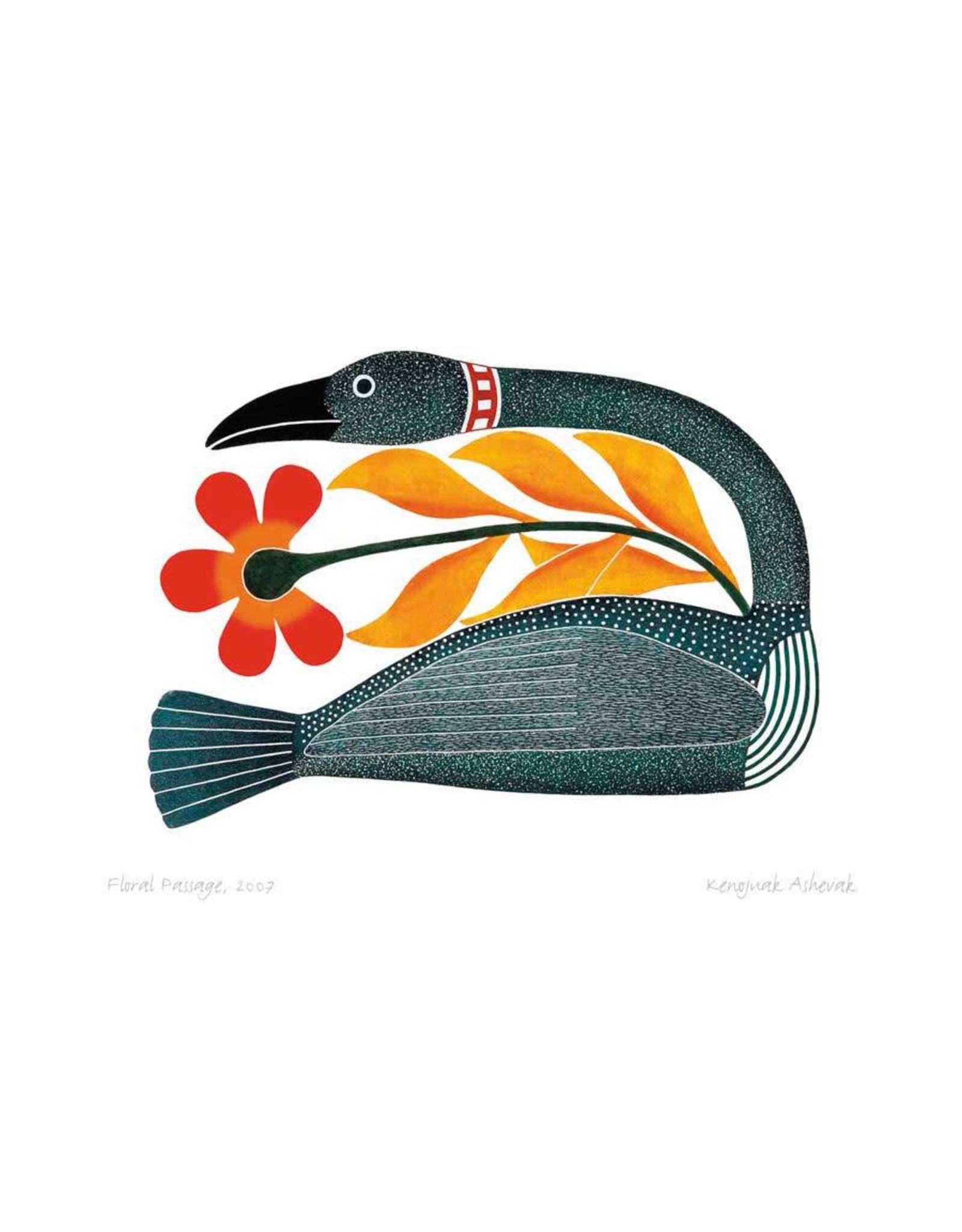 Floral Passage, 2007 by Kenojuak Ashevak Matted
