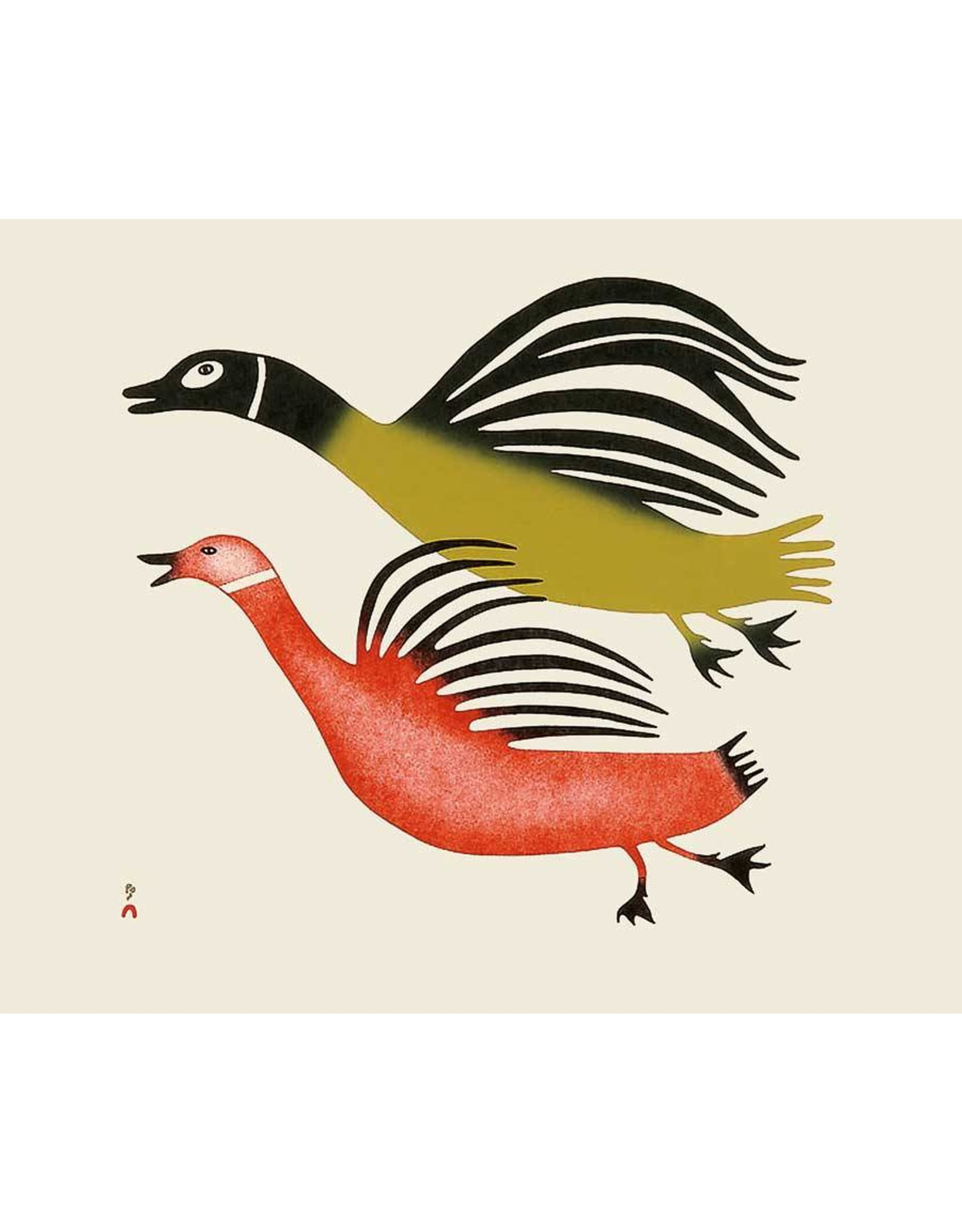 Startled Loons, 2004 by Pauta Saila Matted