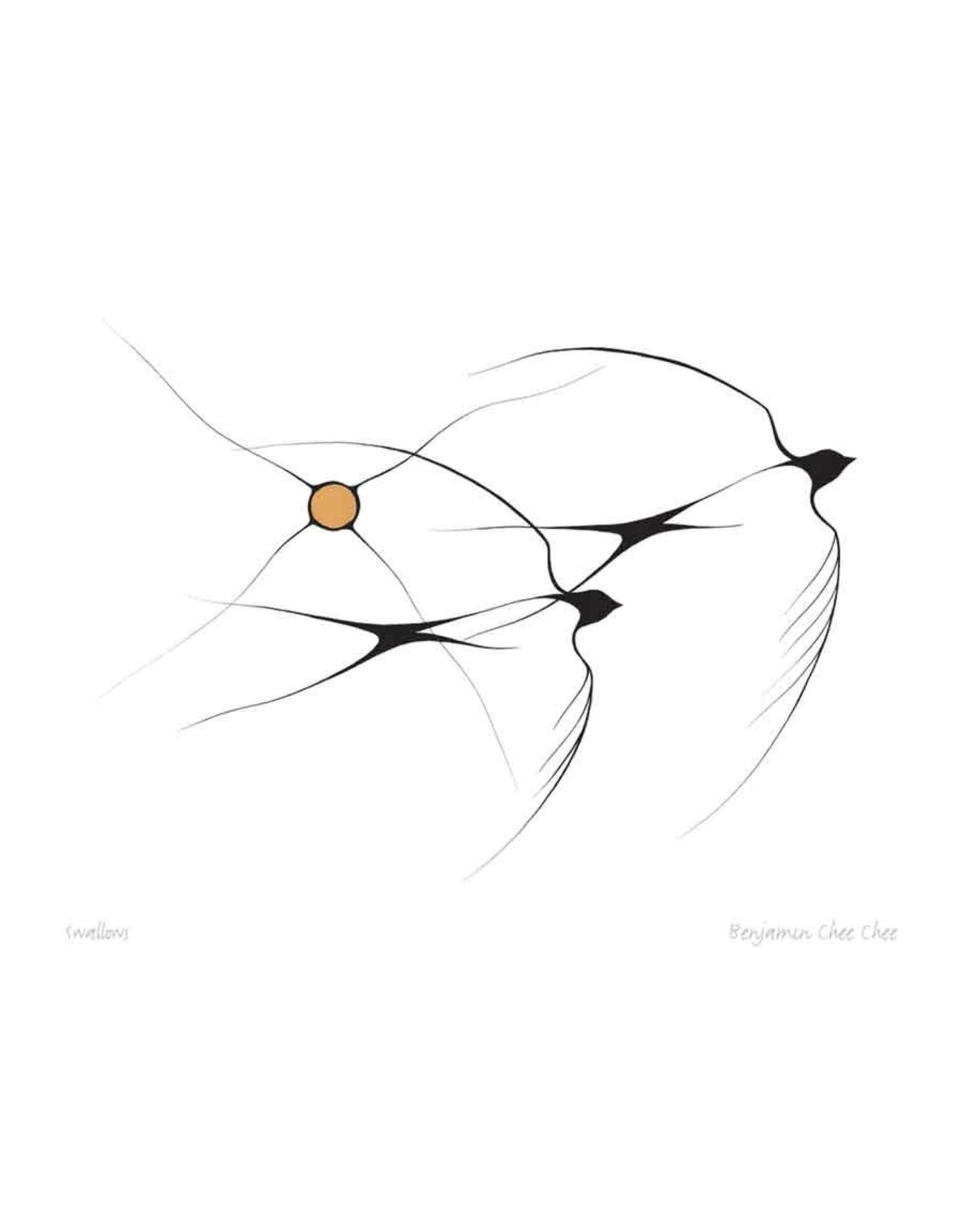 Swallows par Benjamin Chee Chee  Montée sur Passe-Partout