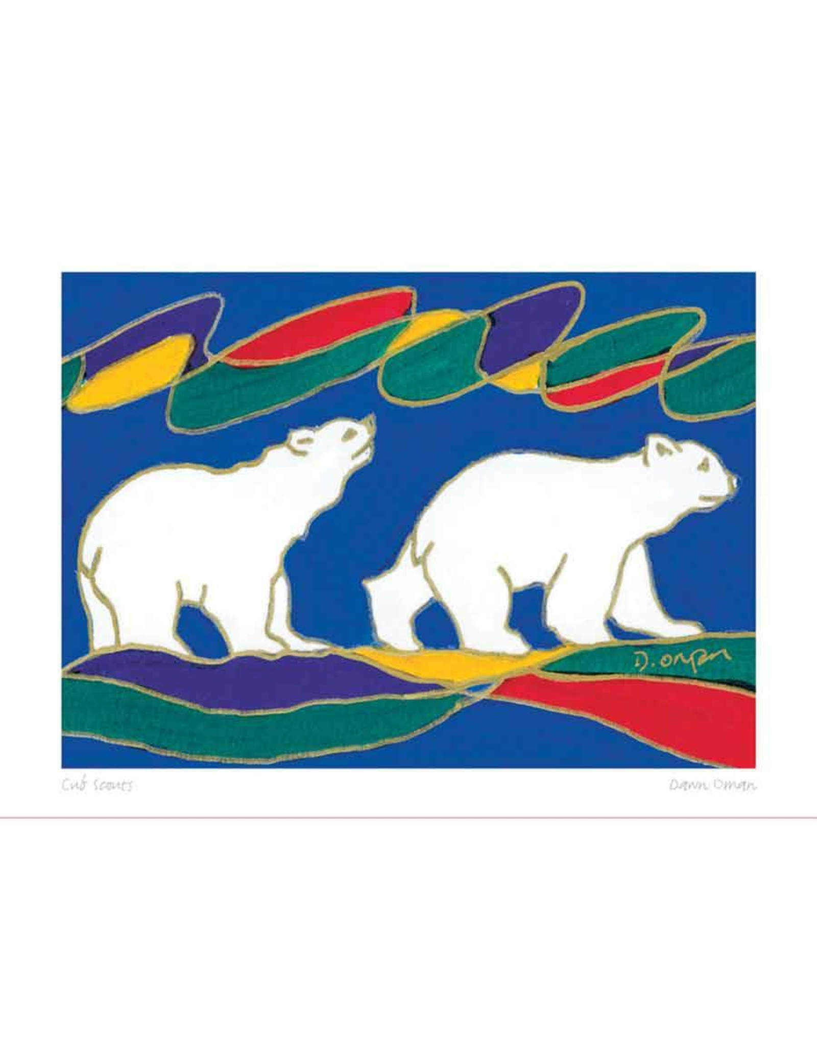Cub Scouts by Dawn Oman Matted