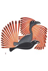 Intruding Raven, 2001 by Kenojuak Ashevak Matted